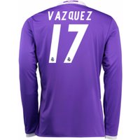 2016-17 Real Madrid Away Shirt (Vazquez 17) - Kids