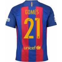 2016-17 Barcelona Home Shirt (Gomes 21) - Kids