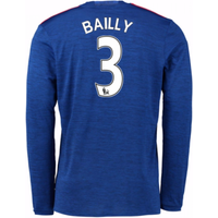 2016-17 Man United Away Long Sleeve Shirt (Bailly 3) - Kids