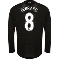 2016-17 Liverpool Away Long Sleeve Shirt (Gerrard 8) - Kids