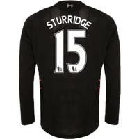 2016-17 Liverpool Away Long Sleeve Shirt (Sturridge 15) - Kids