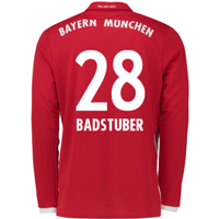 2016-17 Bayern Munich Long Sleeve Home Shirt (Badstuber 28) - Kids