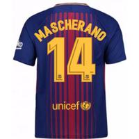 2017-2018 Barcelona Home Shirt (Mascherano 14) - Kids