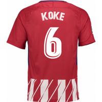 2017-2018 Atletico Madrid Home Shirt (Koke 6) - Kids