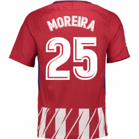 2017-2018 Atletico Madrid Home Shirt (Moreira 25) - Kids