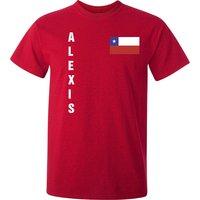 Alexis Sanchez Chile Flag T-Shirt (Red)