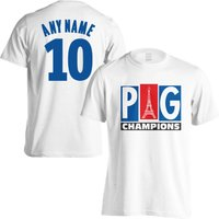PSG Champions T-Shirt (Your Name) - White (Kids)