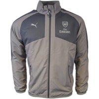 2016-2017 Arsenal Puma Casual Performance Woven Jacket (Grey) - Kids