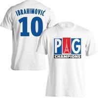 PSG Champions T-Shirt (Ibrahimovic 10) - White
