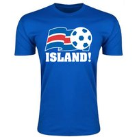 Image of Iceland Football Federation T-Shirt (Blue) - Kids