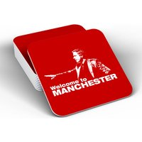 Jose Mourinho - Welcome To Manchester Coaster (Red)