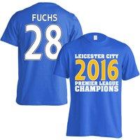 Leicester City 2016 Premier League Champions T-Shirt (Fuchs 28) Blue - Kids
