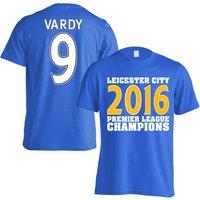 Leicester City 2016 Premier League Champions T-Shirt (Vardy 9) Blue