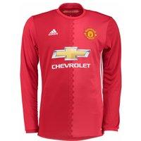 2016-2017 Man Utd Adidas Home Long Sleeve Shirt (Kids)