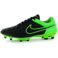 Nike Tiempo Genio FG Mens Football Boots (Black-Green)
