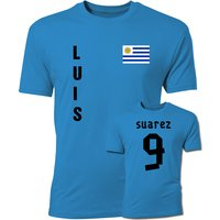 Luis Suarez Uruguay Flag T-Shirt (Blue)