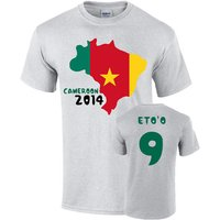Cameroon 2014 Country Flag T-shirt (etoo 9)