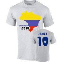 Colombia 2014 Country Flag T-shirt (james 10)