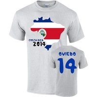 Costa Rica 2014 Country Flag T-shirt (oviedo 14)