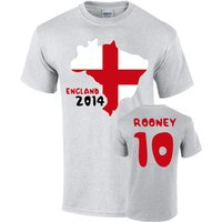 England 2014 Country Flag T-shirt (rooney 10)