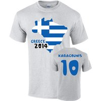 Greece 2014 Country Flag T-shirt (karagounis 10)
