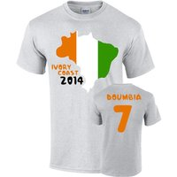 Ivory Coast 2014 Country Flag T-shirt (doumbia 7)