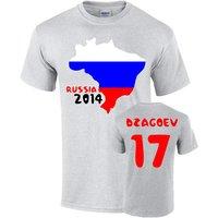 Russia 2014 Country Flag T-shirt (dzagoev 17)