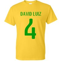 David Luiz Brazil Hero T-shirt (yellow)