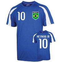 Image of Brazil Sports Training Jersey (neymar Jr 10) - Kids