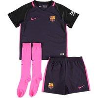 2016-2017 Barcelona Away Nike Little Boys Mini Kit