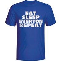 Eat Sleep Everton Repeat T-shirt (blue)