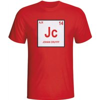 Johan Cruyff Ajax Periodic Table T-shirt (red) - Kids