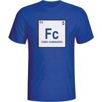 Fabio Cannavaro Italy Periodic Table T-shirt (blue)