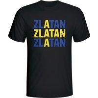 Zlatan Ibrahimovic Sweden Player Flag T-shirt (black) - Kids