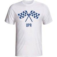 Qpr Waving Flags T-shirt (white) - Kids