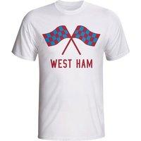 West Ham Waving Flags T-shirt (white) - Kids