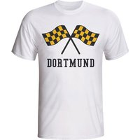 Borussia Dortmund Waving Flags T-shirt (white)