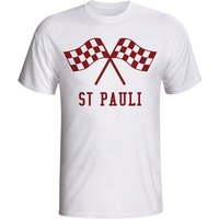 St Pauli Waving Flags T-shirt (white) - Kids