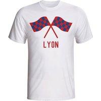 Lyon Waving Flags T-shirt (white) - Kids