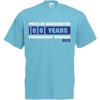 Image of 2012 Manchester City Premiership Winners T-Shirt (Blue)