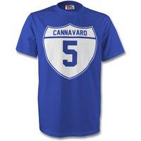 Fabio Cannavaro Italy Crest Tee (blue) - Kids