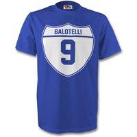 Mario Balotelli Italy Crest Tee (blue) - Kids