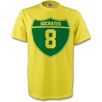 Socrates Brazil Crest Tee (yellow)