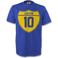 Zlatan Ibrahimovic Sweden Crest Tee (blue) - Kids