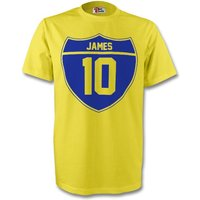 James Rodriguez Colombia Crest Tee (yellow)