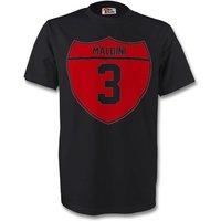 Paolo Maldini Ac Milan Crest Tee (black)