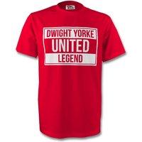 Dwight Yorke Man Utd Legend Tee (red) - Kids