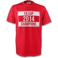 2014 Fa Cup Winners Tee (red)