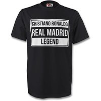 Cristiano Ronaldo Real Madrid Legend Tee (black) - Kids