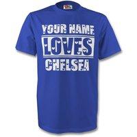Your Name Loves Chelsea T-shirt (blue)